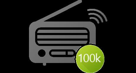 100,000 radio stations